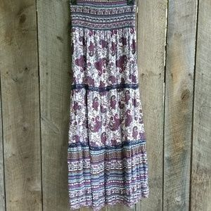 Soulmates Floral Lace Trim Maxi Skirt XL